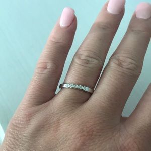Kate spade ring size 7 silver